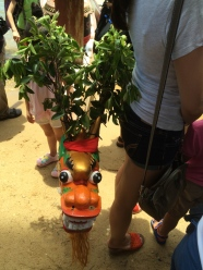 Front of a dragon boat