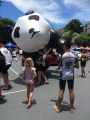 Mascot inflated