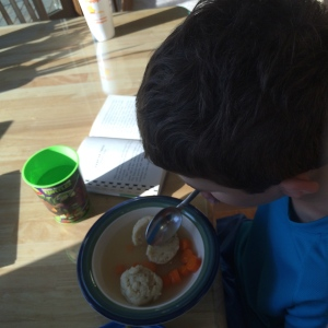 Matzoh ball soup from grandma, happy day!