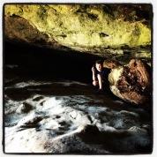 Hi kiddo in cave!