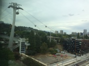 Watching the tram at the bottom, OHSU